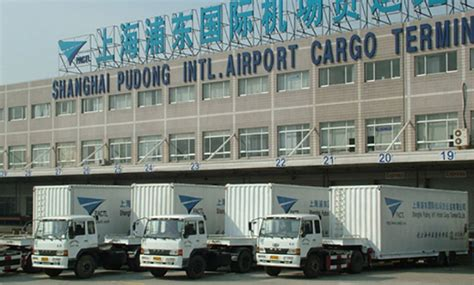 record air cargo volume flows  shanghai terminal
