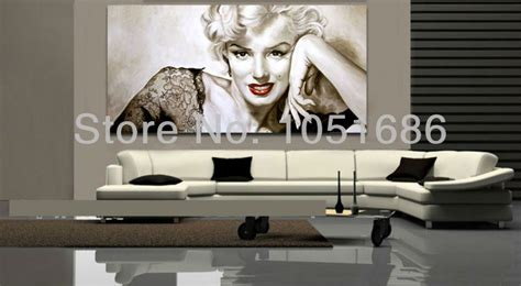 marilyn living room theme marilyn wall decor picture modern abstract portrait paintings canvas