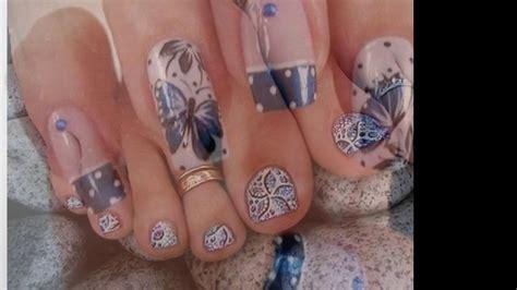 imagenes uñas en pinceladas dise 241 os de u 241 as decoradas con flores en pinceladas para