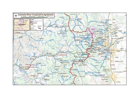 rivers of colorado map colorado river cooperative agreement coyote gulch