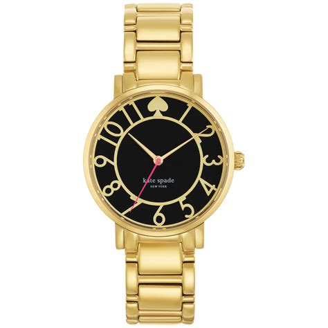 kate spade s gramercy gold tone stainless steel