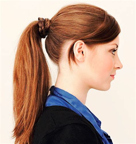 Hairstyles For Shoulder Length Hair Pony Tails | best hairstyles for medium length hair with ponytail