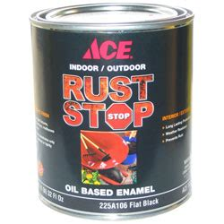 ace rust stop black flat paint qt eagle paper
