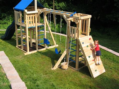 backyard swing set plans rock climbing wall for playhouse google search tree