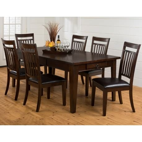 legacy dining room set legacy oak 7pc table and chair set eaton hometowne