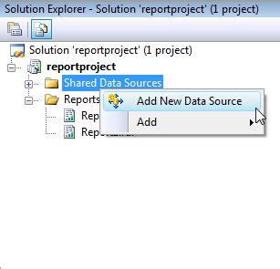 ssrs basic report server project