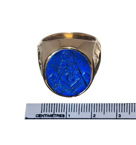 lapis masonic maple leaf gold plated sterling silver