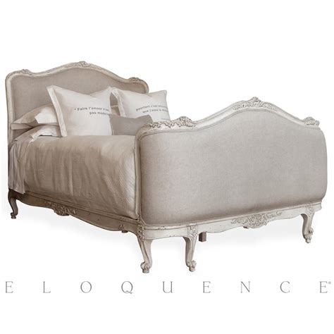 antique white bed eloquence sophia queen bed in antique white kathy kuo home
