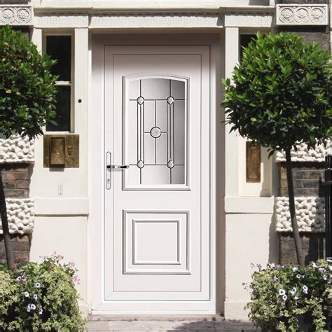 White Pvc Front Doors External Maree Pvc Classic Quintet Door External White Pvc Doors