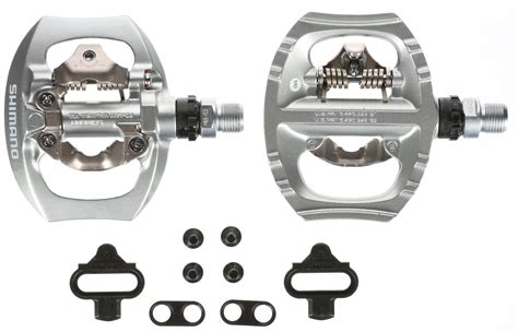 racing bike pedals and shoes shimano pd a530 spd clipless pedals silver single sided