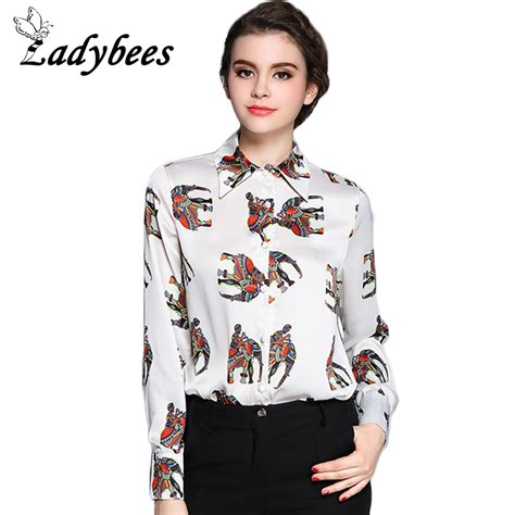 Elephant Top Blouse Hq 1 ladybees plus size blouses elephant print shirt sleeve colorful polo tops office