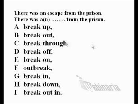 Quot English Grammar Phrasal Verbs Quot Break Quot Verb Diagram   practice verb to be questions 64 free tag questions