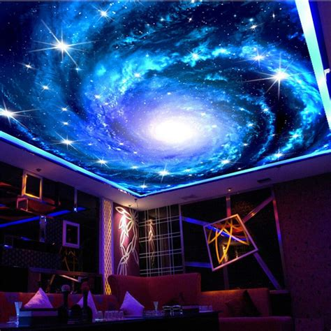 Galaxy Bedroom Wallpaper by Beibehang Galaxy Large Sky Photo Wall Paper For Walls