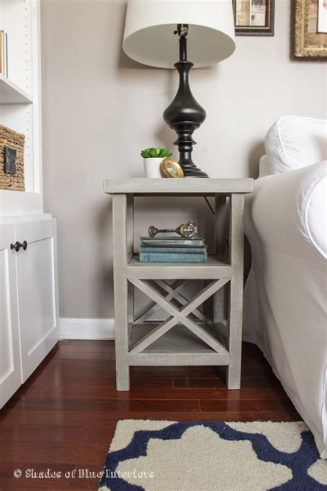 white small x end table featuring shades of blue interiors diy projects