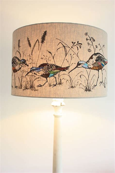 Ideas For Embroidered L Shade Wading Birds Lshade By Lara Sparks Embroidery Notonthehighstreet