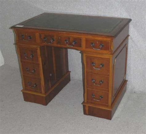 Small Wood Desk Antiques Atlas Small Yew Wood Desk
