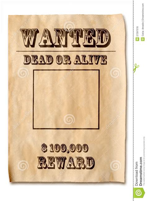 reward posters template wanted poster with reward stock photo image of dangerous