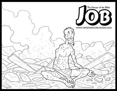 coloring pages for job in the bible 17 best images about church bible job on pinterest