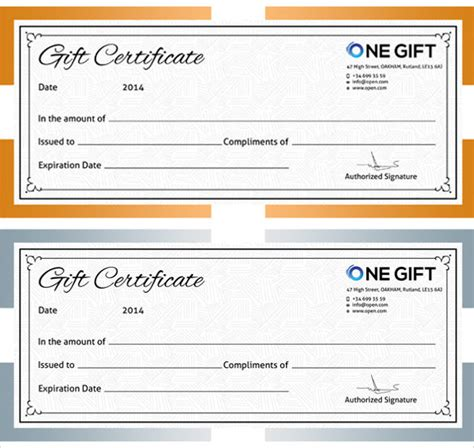 gift card maker template 12 blank gift certificate templates sle templates
