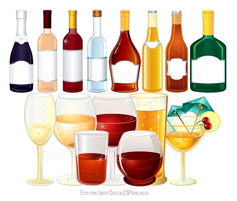 alcoholic drinks bottles drinking clipart alcohol bottle pencil and in color