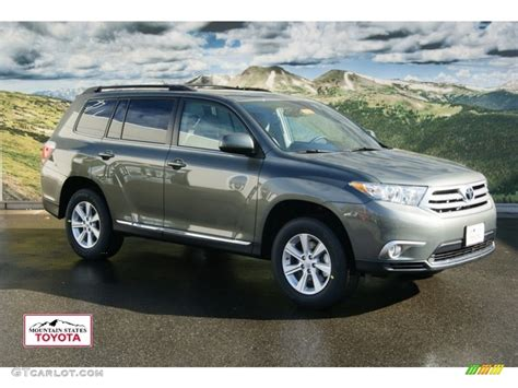 2012 cypress green pearl toyota highlander se 4wd 56760801 gtcarlot car color galleries