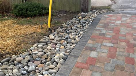 life time pavers river gravel drainage system