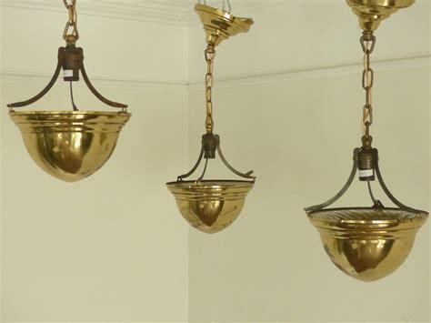 Brass Lighting Fixtures 1920 Brass Cone Ceiling Light Fixtures At 1stdibs