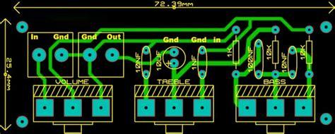 fungsi layout pcb contoh skema rangkaian tone control pasif dan gambar