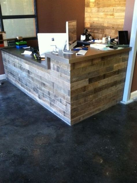 Timber Reception Desk Along With The Sustainability Benefits Of Reclaimed Wood Boards And Timbers From Buildings