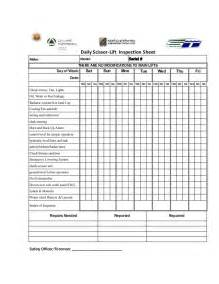 forklift inspection checklist template printable fork lift daily inspection checklist pictures to
