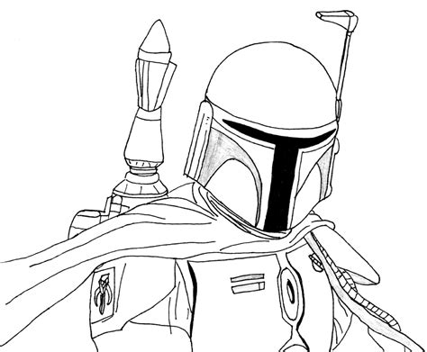 boba fett coloring pages printable coloring page for