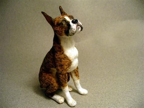 mini boxer puppies dollhouse miniature boxer handsculpted
