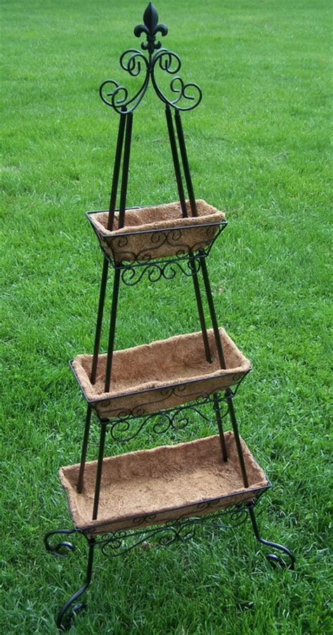 3 Tier Planter Stand by New 49 Quot 3 Tier Indoor Outdoor Metal Planter Plant Stand Ebay
