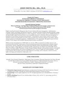 Science Resume Templates by Top Scientist Resume Templates Sles