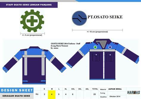 Seragam Koko Biru Panjang seragam lapangan konveksi seragam kantor seragam kerja