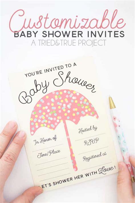 customizable baby shower invites  true