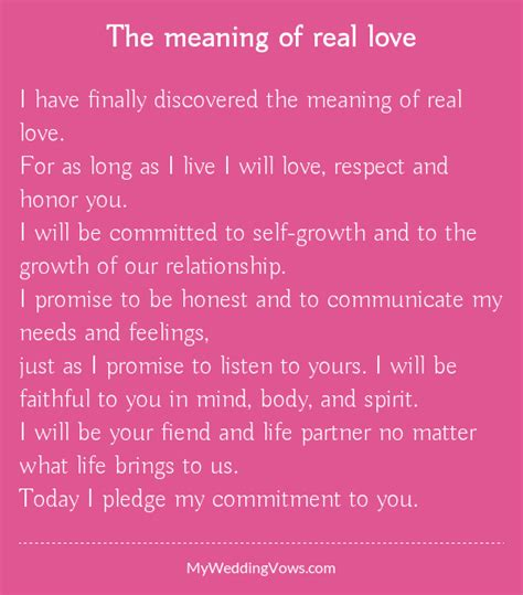 Wedding Vows Meaning by The Meaning Of Real Be Honest I Promise And Respect