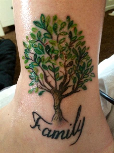 the word family tattoo designs my family tree next but with names in the
