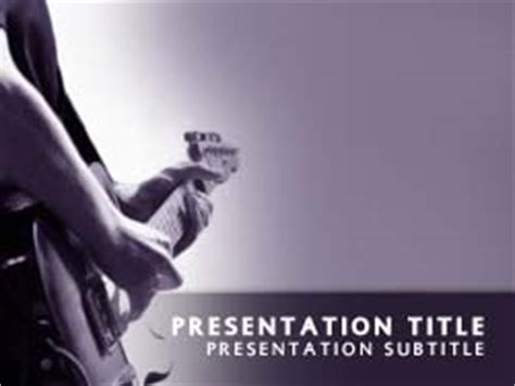 rock powerpoint themes royalty free playing guitar powerpoint template in purple
