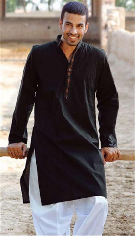collection  latest designed black kurta shalwar  men