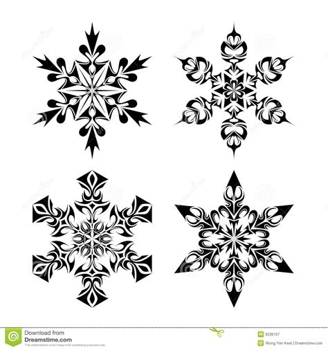 tribal snow flakes stock vector image of decor pattern