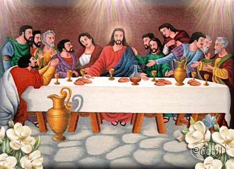 la ultima cena de jesus y sus discipulos vidas santas la ultima cena