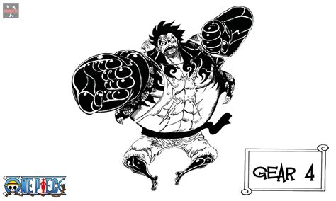 Kaos Anime Monkeydluffy Gear 4 One luffy gear fourth gear 4 render by rorohito on deviantart