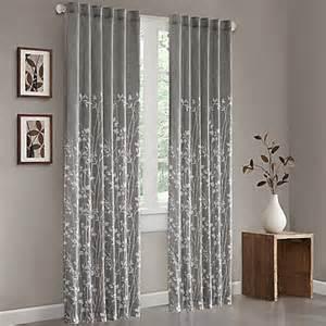 Yellow And Grey Window Curtains Buy Park Anaya 84 Inch Cotton Window Curtain Panel In Yellow Grey From Bed Bath Beyond