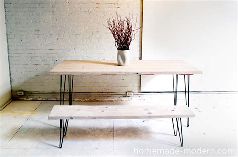 make your own modern wood and iron dining table with this