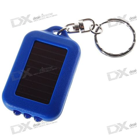 Xsy Keychain Assorted Newvi 3 3 led solar powered self recharge flashlight keychain color assorted free shipping dealextreme