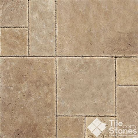 tuscany chocolate travertine versailles pattern mediterranean wall and floor tile other