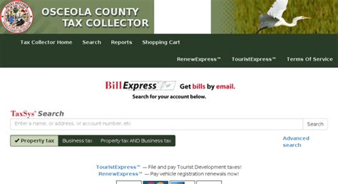 Osceola County Search Access Osceola County Taxes Search Taxsys Osceola County Tax Collector