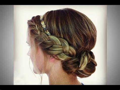 braided headband updo youtube