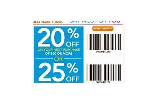 stride rite coupon may 2018